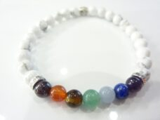 Bracelet chakras Howlite-Perles rondes 6 mm