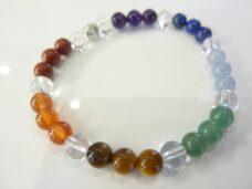 Bracelet 7 CHAKRAS quartz cristal-améthyste-aventurine-cornaline-