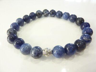 Bracelet Sodalite perles rondes 8 mm