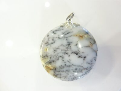 Pendentif Merlinite opale dentritique REF 1129
