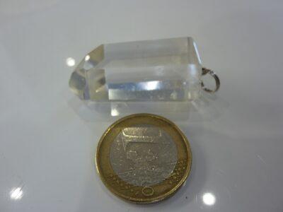 Pendentif pointe cristal de roche ref 3434