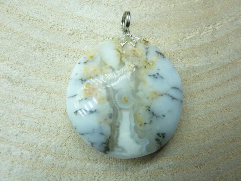 Pendentif Merlinite opale dentritique REF 2143