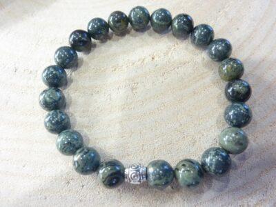 Bracelet Jaspe Kambamba-Perles rondes 8 mm