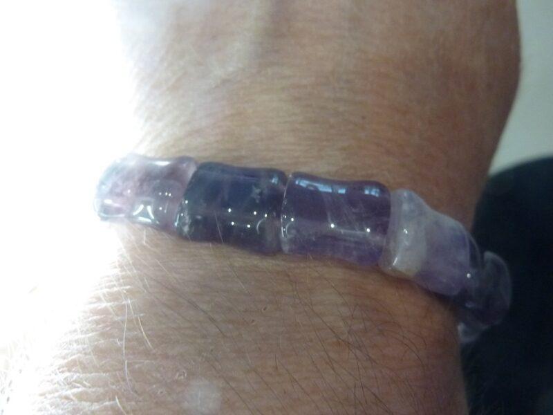 Bracelet Cacoxénite super seven - perles 1,4 x 1,1 cm Ref 8333
