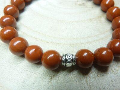 Bracelet Jaspe rouge - Perles 8 mm