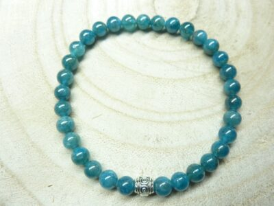 Bracelet Apatite - Perles rondes 6 mm