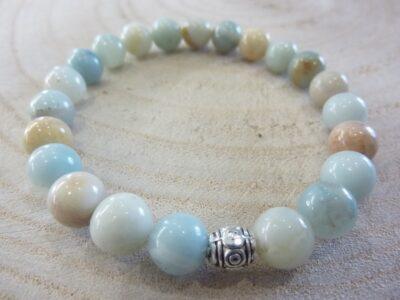 Bracelet Amazonite - Perles rondes 8 mm