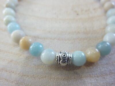 Bracelet Amazonite - Perles rondes 6 mm