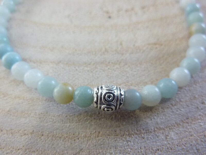 Bracelet Amazonite - Perles rondes 4 mm