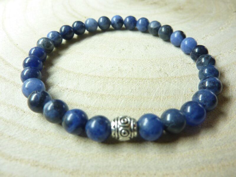 Bracelet Sodalite perles rondes 6 mm