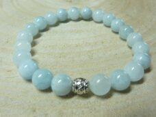 Bracelet Aigue marine - Perles 8 mm