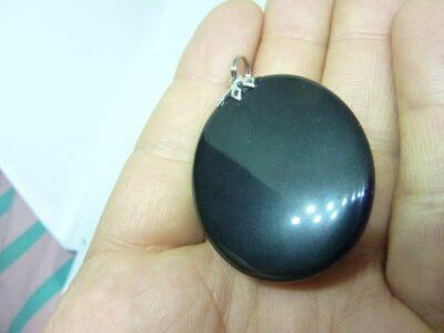 Pendentif Obsidiene oeil celeste ref 4296