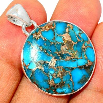 Pendentif Turquoise monture argent 925 ref 6765