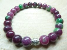 Bracelet Rubis Zoisite - Perles rondes 8 mm