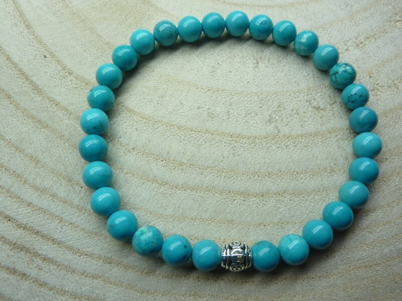 Bracelet Turquoise - Perles rondes 6 mm