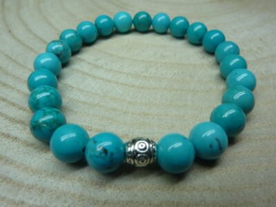 Bracelet Turquoise - Perles rondes 8 mm