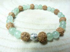 Bracelet Rudraksha-Aventurine verte - Perles 8-6 mm