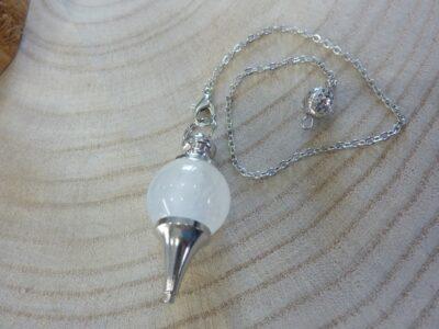 Pendule Quartz cristal de roche - Radiesthésie