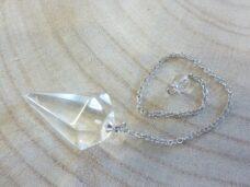 Pendule Quartz cristal de roche Pointe - Radiesthésie