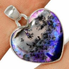 Pendentif Merlinite opale dentritique Monture argent 925 REF 0438