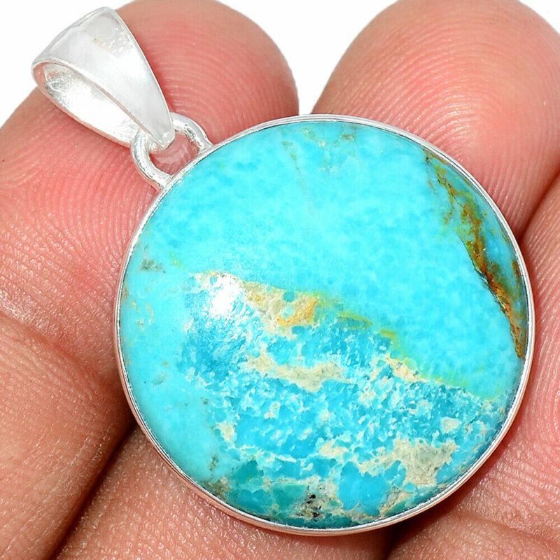 Pendentif Turquoise monture argent 925 ref 7161