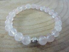 Bracelet Quartz rose – perles rondes 8 mm