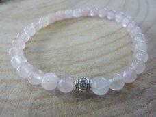 Bracelet Quartz rose – perles rondes 6 mm