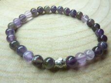 Bracelet Cacoxénite super seven très rare perles rondes 6 mm