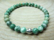 Bracelet Jade vert - Perles rondes 6 mm