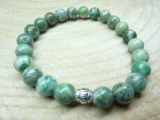 Bracelet Jade vert - Perles rondes 8 mm