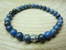 Bracelet Dumortiérite - perles 6 mm