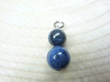 Pendentif Dumortiérite - perles 12-10 mm