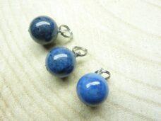 Pendentif Dumortiérite - perles rondes 12 mm